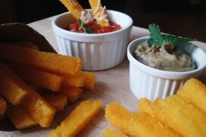 SENZA GLUTINE – Quadrotti di Polenta gratinata alla pugliese e polenta wedges